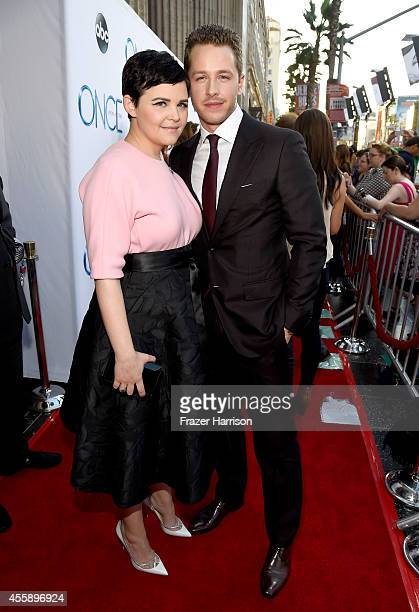 Actress Ginnifer Godwin and Actor Josh Dallas attend a screening of ABC's 'Once Upon A Time' Season 4 at the El Capitan Theatre on September 21 2014...