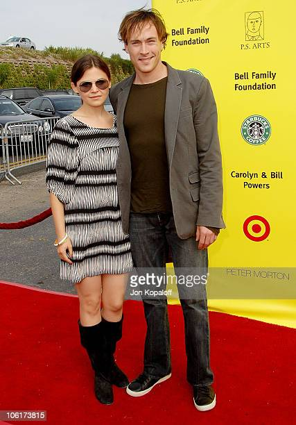 Actress Ginnifer Goodwin and actor Chris Klein arrive at the PS Arts 10th Annual Express Yourself Gala at Barker Hanger on November 4 2007 in Santa...