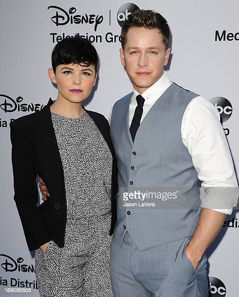 Actress Ginnifer Goodwin and actor Josh Dallas attend the Disney Media Networks International Upfronts at Walt Disney Studios on May 19 2013 in...