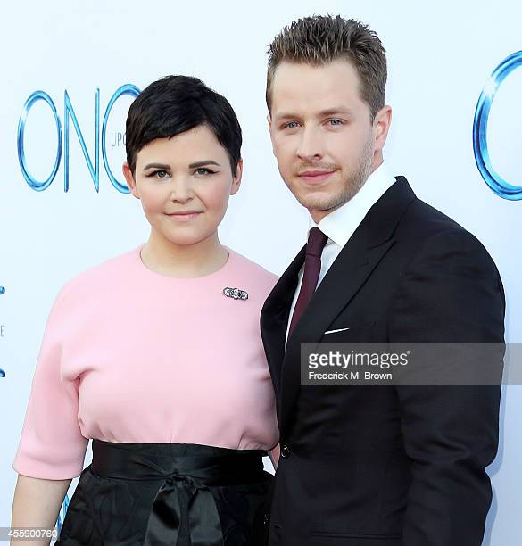 Actress Ginnifer Goodwin and actor Josh Dallas attend the Screening of ABC's 'Once Upon A Time' Season 4 at the El Capitan Theatre on September 21...