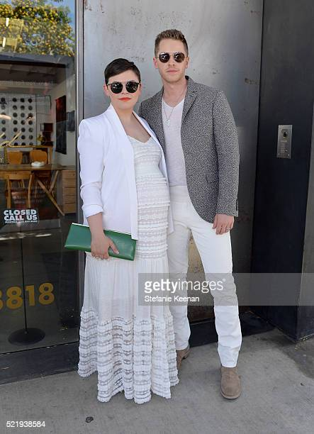 Actress Ginnifer Goodwin and actor Josh Dallas with John Varvatos Eyewear at the 13th Annual Stuart House Benefit at John Varvatos on April 17 2016...