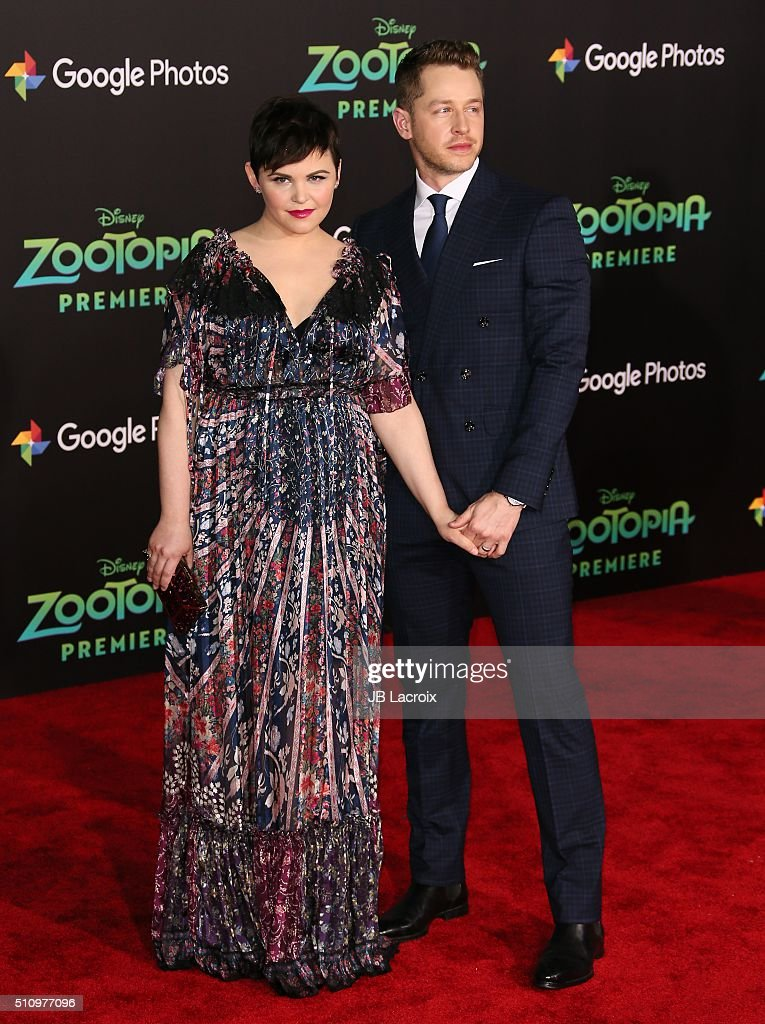 Actress Ginnifer Goodwin and Josh Dallas attend the premiere of Walt Disney Animation Studios' 'Zootopia' held at the El Capitan Theatre on February 17, 2016 in Hollywood, California.