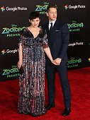 Actress Ginnifer Goodwin and Josh Dallas attend the premiere of Walt Disney Animation Studios' 'Zootopia' held at the El Capitan Theatre on February...