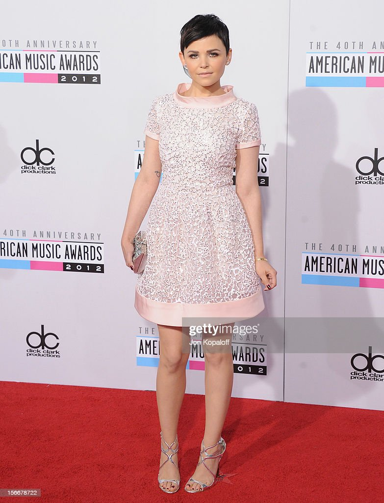 Actress Ginnifer Goodwin arrives at The 40th American Music Awards at Nokia Theatre LA Live on November 18 2012 in Los Angeles California