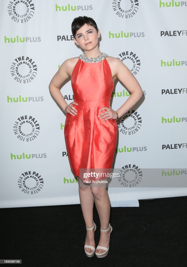 Actress Ginnifer Goodwin attends the 30th annual PaleyFest featuring the cast of 'Once Upon A Time' at the Saban Theatre on March 3, 2013 in Beverly Hills, California.