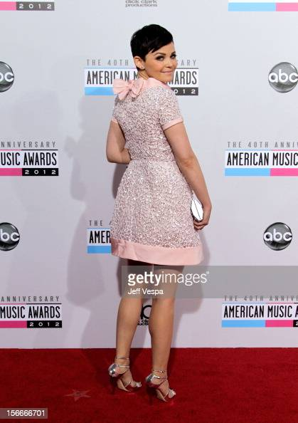 Actress Ginnifer Goodwin attends the 40th Anniversary American Music Awards held at Nokia Theatre LA Live on November 18 2012 in Los Angeles...