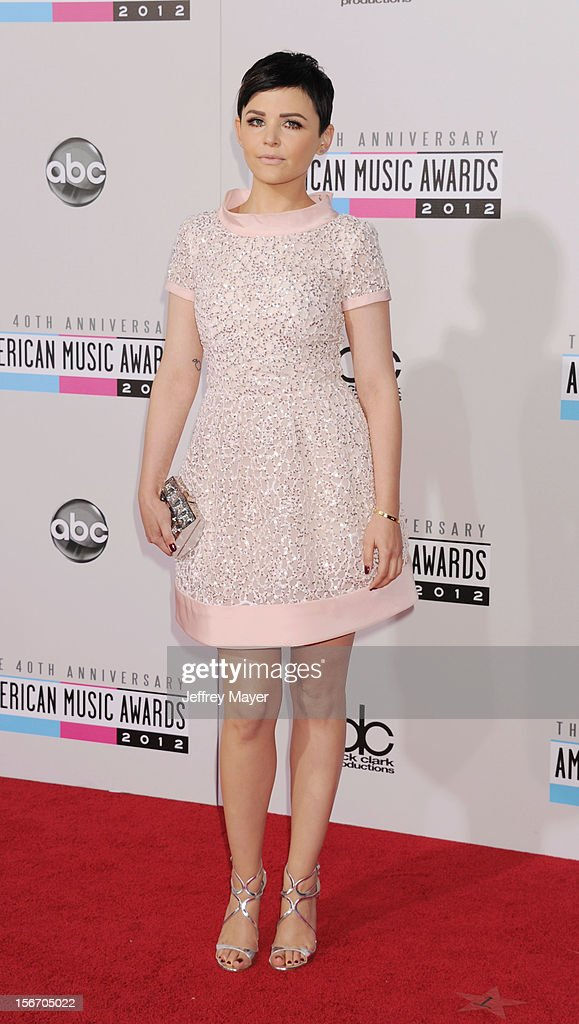 Actress Ginnifer Goodwin attends the 40th Anniversary American Music Awards held at Nokia Theatre L.A. Live on November 18, 2012 in Los Angeles, California.