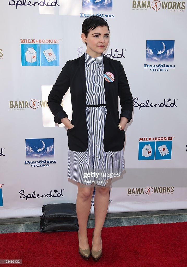 Actress Ginnifer Goodwin attends the 4th annual Milk+Bookies story time celebration at The Skirball Cultural Center on March 10, 2013 in Los Angeles, California.