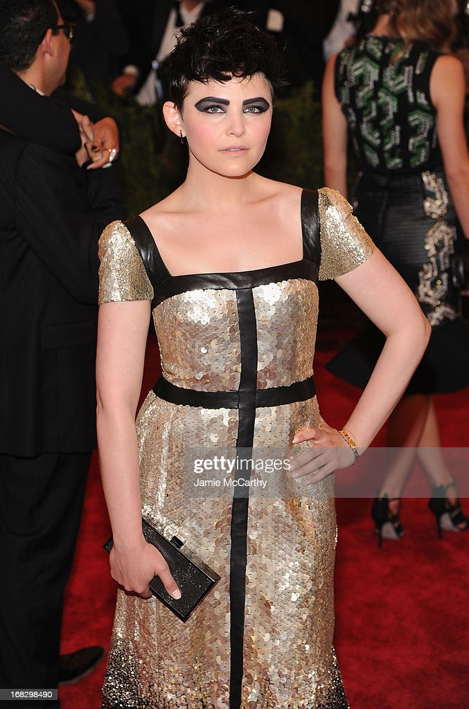 Actress <a gi-track='captionPersonalityLinkClicked' href=/galleries/search?phrase=Ginnifer+Goodwin&family=editorial&specificpeople=215039 ng-click='$event.stopPropagation()'>Ginnifer Goodwin</a> attends the Costume Institute Gala for the 'PUNK: Chaos to Couture' exhibition at the Metropolitan Museum of Art on May 6, 2013 in New York City.