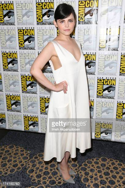 Actress Ginnifer Goodwin attends the 'Once Upon A Time' press line during ComicCon International 2013 at the Hilton San Diego Bayfront Hotel on July...