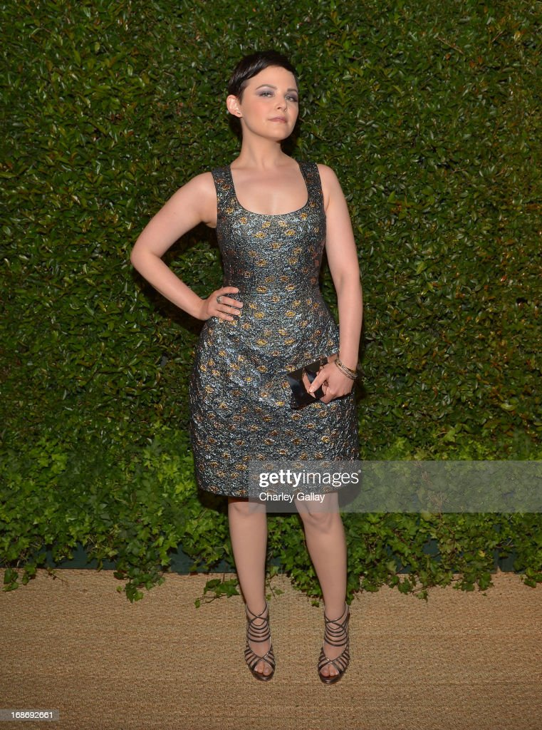 Actress <a gi-track='captionPersonalityLinkClicked' href=/galleries/search?phrase=Ginnifer+Goodwin&family=editorial&specificpeople=215039 ng-click='$event.stopPropagation()'>Ginnifer Goodwin</a> attends Vogue and MAC Cosmetics dinner hosted by Lisa Love and John Demsey in honor of Prabal Gurung at the Chateau Marmont on Monday, May 13, 2013 in Los Angeles, California.
