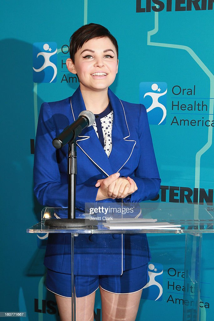 Actress Ginnifer Goodwin speaks at the Listerine 21 Day Challenge Kick-off at Gabarron Museum NYC on February 5, 2013 in New York City.