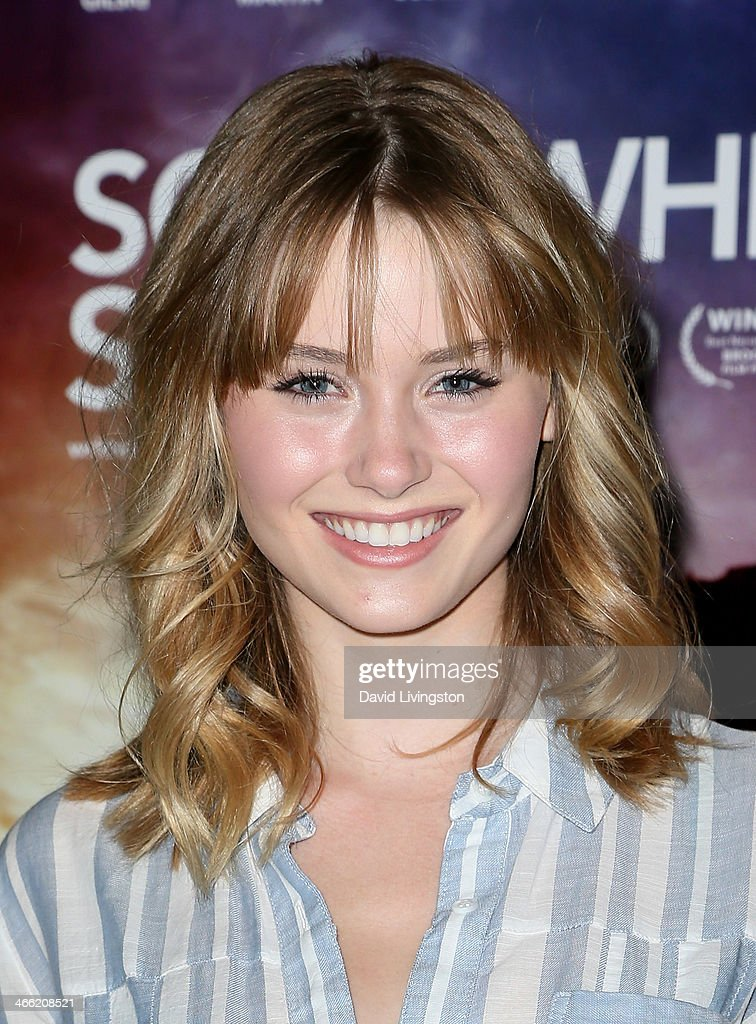 Actress Ginny Gardner attends a screening of Logolite Entertainment & Screen Media Films' 'Somewhere Slow' at Arena Cinema Hollywood on January 31, 2014 in Hollywood, California.
