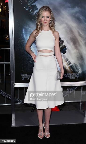 Actress Ginny Gardner attends the premiere of Paramount Pictures' 'Project Almanac' at the TCL Chinese Theatre on January 27 2015 in Hollywood...