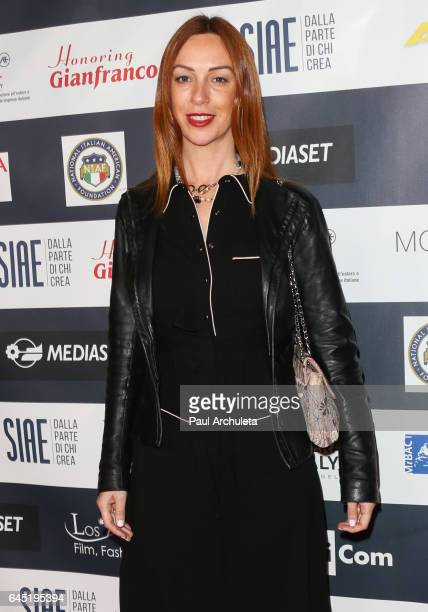 Actress Gioia Libardoni attends the 12th edition of The Los Angeles Italia Film Fashion and Art Fest closing nite at TCL Chinese 6 Theatres on...