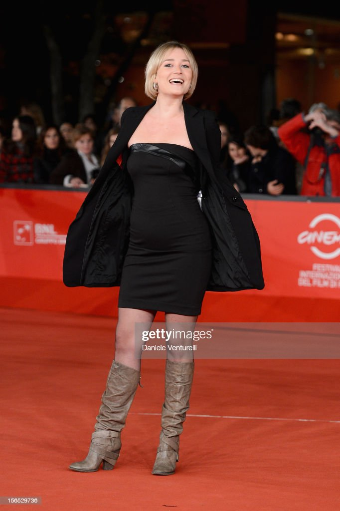 Actress Giorgia Salari attends the 'Cosimo E Nicole' Premiere during the 7th Rome Film Festival at Auditorium Parco Della Musica on November 16, 2012 in Rome, Italy.