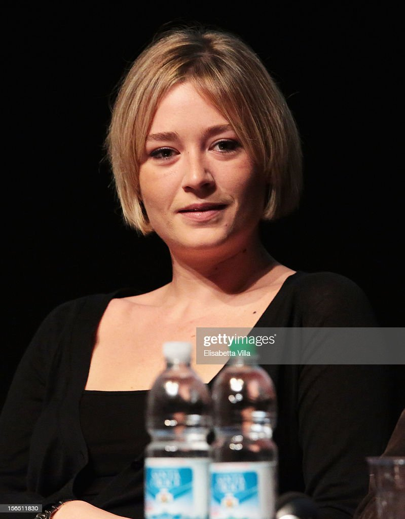 Actress Giorgia Salari attends the 'Cosimo E Nicole' Press Conference during the 7th Rome Film Festival at the Auditorium Parco Della Musica on November 16, 2012 in Rome, Italy.