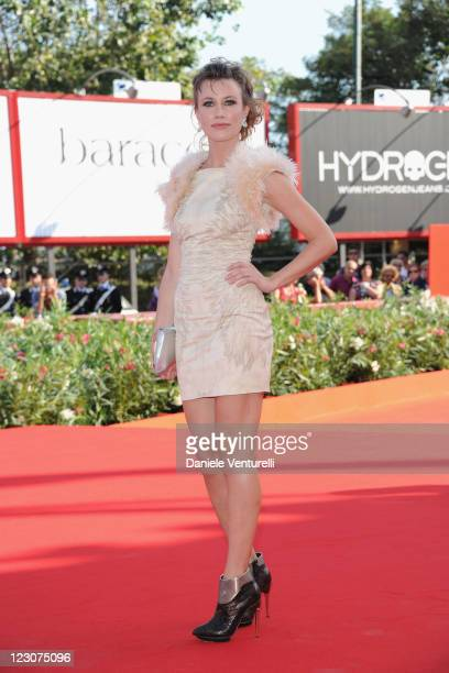 Actress Giorgia Wurth attends 'Box Office 3D' premiere during the 68th Venice International Film Festival at Palazzo del Cinema on August 30 2011 in...