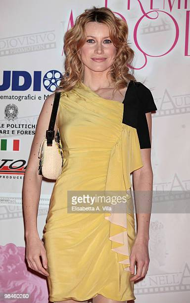 Actress Giorgia Wurth attends the '2010 Premio Afrodite' at the Studios on April 14 2010 in Rome Italy