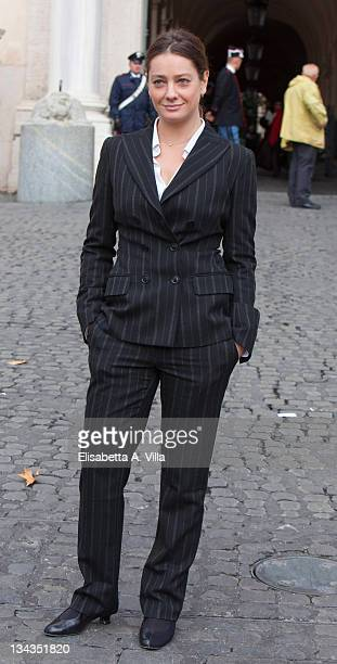 Actress Giovanna Mezzogiorno attends the 2009 Vittorio De Sica Awards at Quirinale on November 9 2009 in Rome Italy