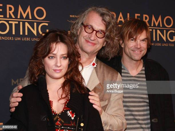 Actress Giovanna Mezzogiorno director Wim Wenders and actor and singer of the German band 'Die Toten Hosen' Campino attend the premiere of their...