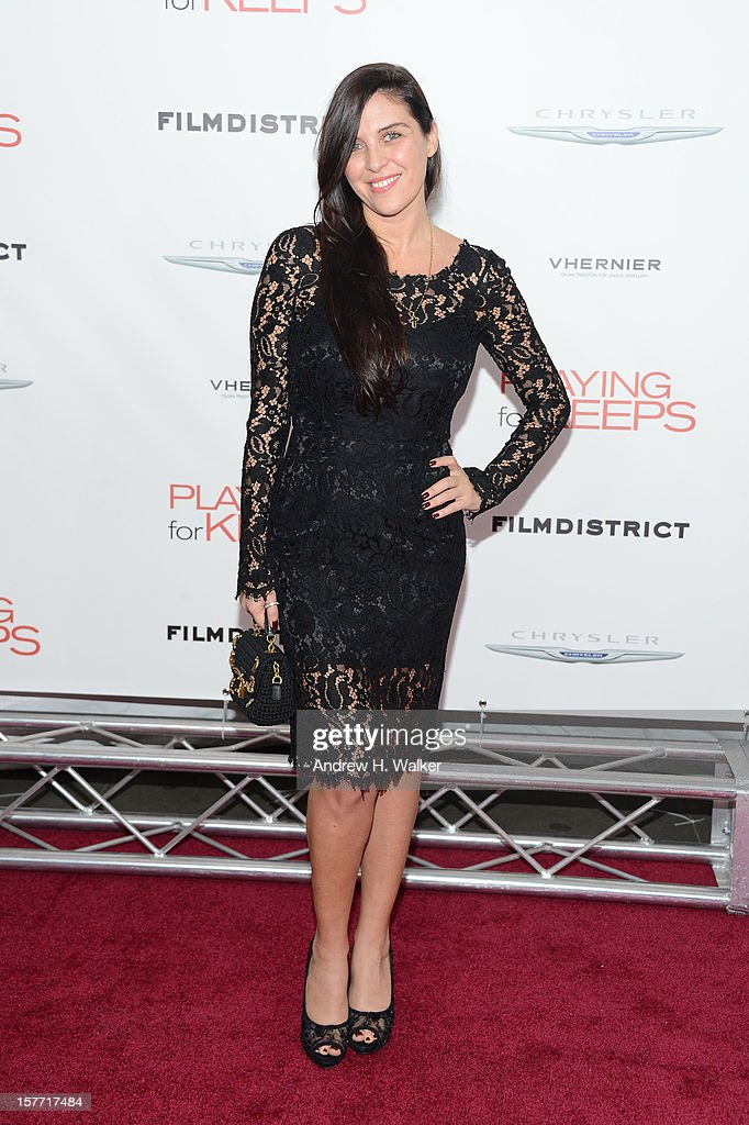 Actress Gisella Marengo attends Film District and Chrysler with the Cinema Society Premiere of 'Playing For Keeps' at AMC Lincoln Square Theater on...