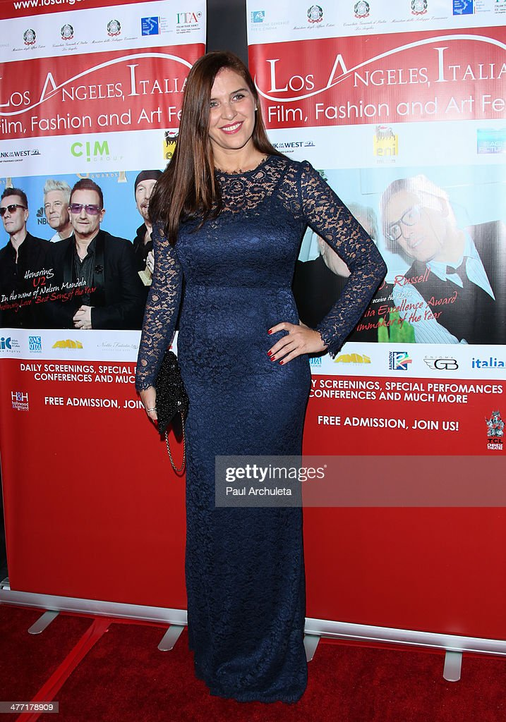 Actress Gisella Marengo attends the 9th annual Los Angeles Italia Film Fashion and Art Fest opening night gala at the TLC Chinese 6 Theatres on...