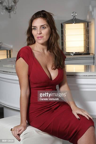 CAPRI ITALY JANUARY 08 Actress Gisella Marengo poses for a portrait session in Capri on January 8 2010 in Capri Italy