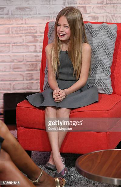 Actress Giselle Eisenberg visits Hollywood Today Live at W Hollywood on November 16 2016 in Hollywood California