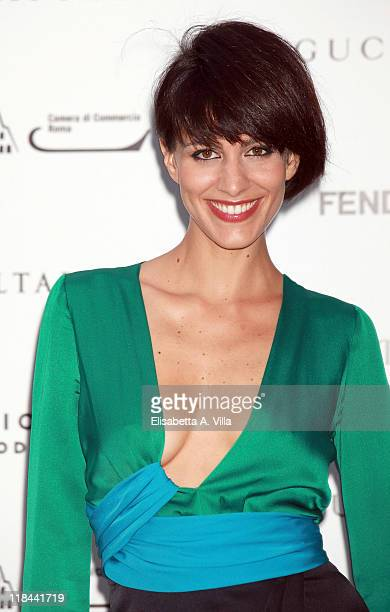 Actress Giulia Bevilacqua attends 'Todo O Nada' photographic exhibition by Mario Testino opening at Palazzo Ruspoli on July 7 2011 in Rome Italy
