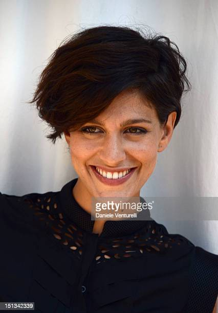 Actress Giulia Bevilacqua is seen at the The 69th Venice Film Festival on September 6 2012 in Venice Italy