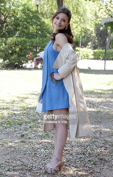 Actress Giulia Elettra Gorietti attends 'I Liceali 3' TV series photocall at Villa Borghese on May 10 2011 in Rome Italy