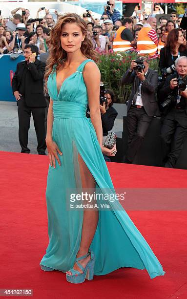 Actress Giulia Elettra Gorietti attends the Opening Ceremony and 'Birdman' premiere during the 71st Venice Film Festival on August 27 2014 in Venice...