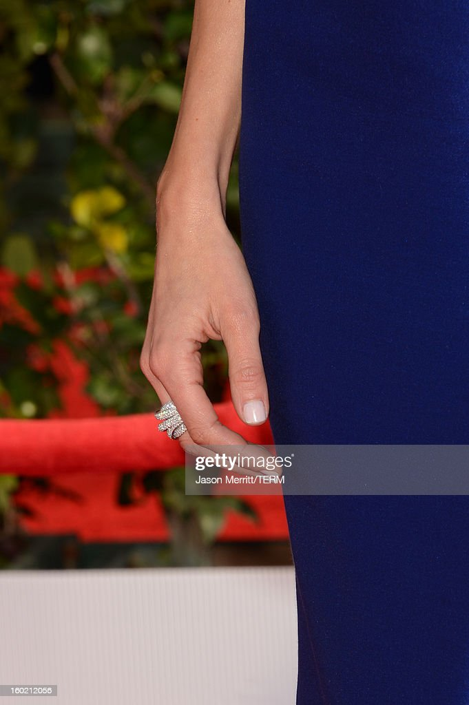 Actress Giuliana Rancic (jewelry detail) attends the 19th Annual Screen Actors Guild Awards at The Shrine Auditorium on January 27, 2013 in Los Angeles, California. (Photo by Jason Merritt/WireImage) 23116_014_0118.JPG