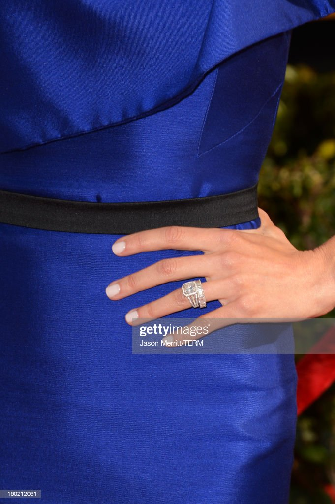 Actress Giuliana Rancic (jewelry detail) attends the 19th Annual Screen Actors Guild Awards at The Shrine Auditorium on January 27, 2013 in Los Angeles, California. (Photo by Jason Merritt/WireImage) 23116_014_0117.JPG
