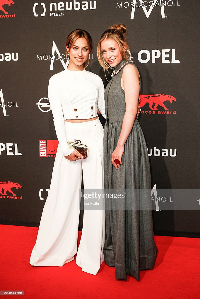 Actress Gizem Emre and actress Anna Lena Klenke attend the New Faces Award Film 2016 at ewerk on May 26, 2016 in Berlin, Germany.