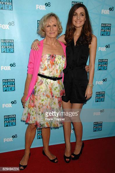 Actress Glen Close and actress Rose Byrne arrive at the FOX AllStar Party held at the Santa Monica Pier