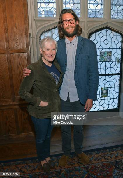 Actress Glen Close and David de Rothschild attend the 'KonTiki' Celebration Luncheon at Explorers Club on April 5 2013 in New York City