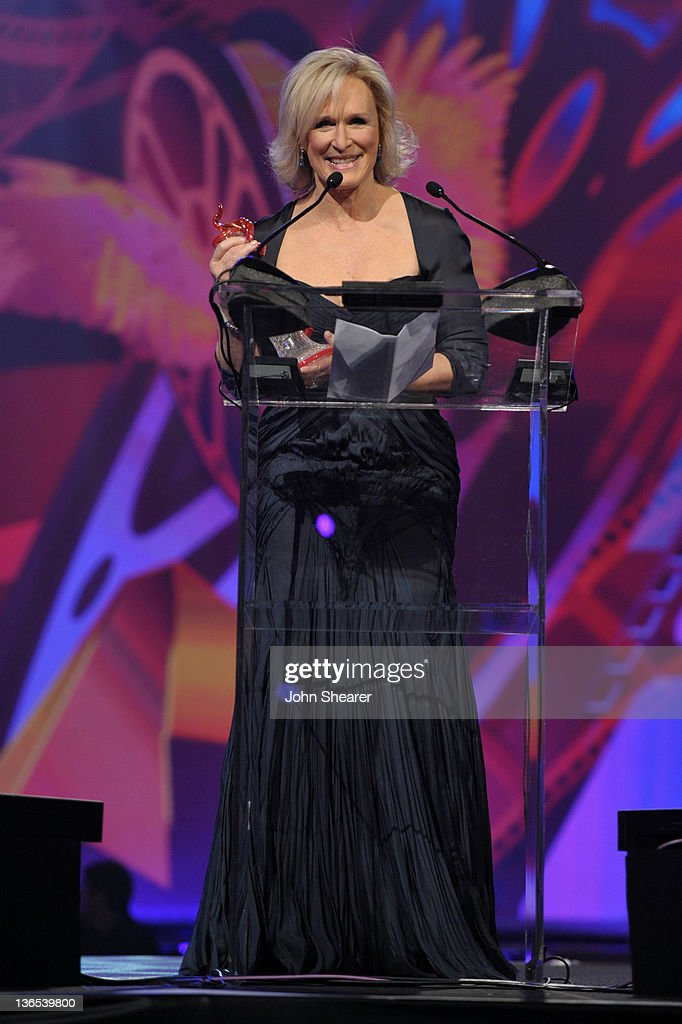 Actress Glenn Close accepts the Career Achievement Award onstage during The 23rd Annual Palm Springs International Film Festival Awards Gala at the Palm Springs Convention Center on January 7, 2012 in Palm Springs, California.