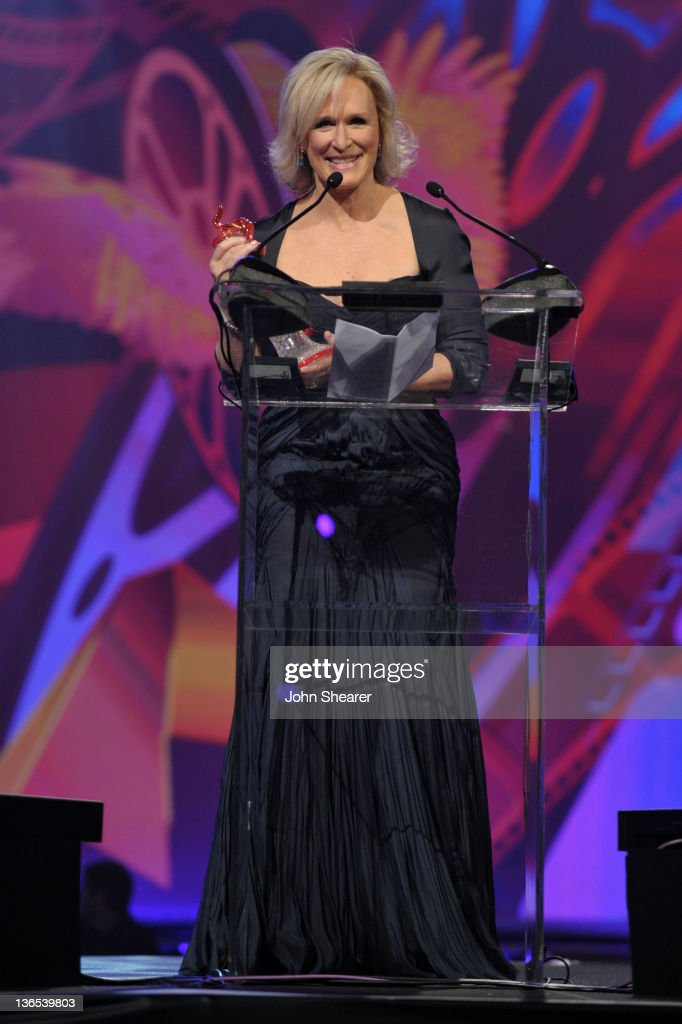 Actress <a gi-track='captionPersonalityLinkClicked' href=/galleries/search?phrase=Glenn+Close&family=editorial&specificpeople=201870 ng-click='$event.stopPropagation()'>Glenn Close</a> accepts the Career Achievement Award onstage during The 23rd Annual Palm Springs International Film Festival Awards Gala at the Palm Springs Convention Center on January 7, 2012 in Palm Springs, California.