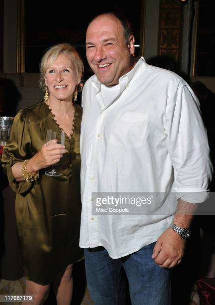 Actress Glenn Close and actor James Gandolfini attends the after party for the screening of the Season Four Premiere of 'Damages' at The Plaza Hotel...