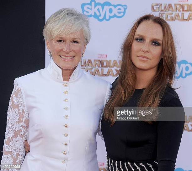 Actress Glenn Close and daughter Annie Starke arrive at the Los Angeles premiere of Marvel's 'Guardians Of The Galaxy' at the El Capitan Theatre on...