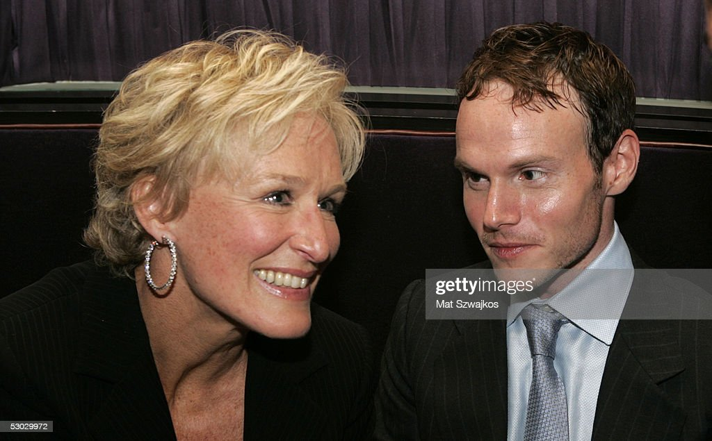 Actress Glenn Close (L) and director Chris Terrio attend the after party for the premiere of Sony Pictures Classics 'Heights' June 6, 2005 New York City.
