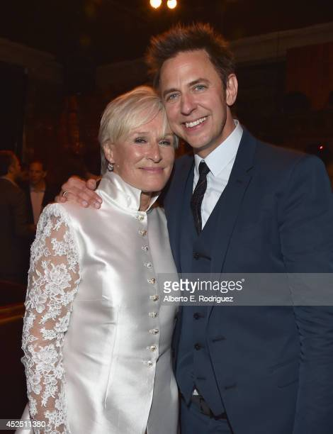 "Actress Glenn Close and director James Gunn attend the after party for The World Premiere of Marvel's epic space adventure ""Guardians of the Galaxy""..."