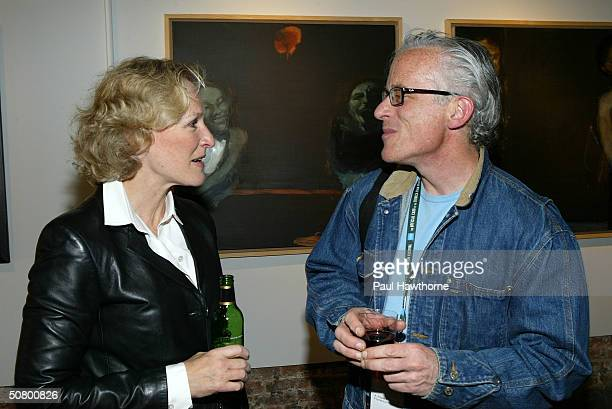 Actress Glenn Close and HBO producer John Hoffman attend the Kodak Producers' Reception during the 2004 Tribeca Film Festival at Tribeca Performing...