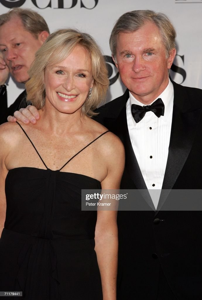 Actress Glenn Close and her husband David Shaw attends the 60th Annual Tony Awards at Radio City Music Hall June 11 2006 in New York City New York