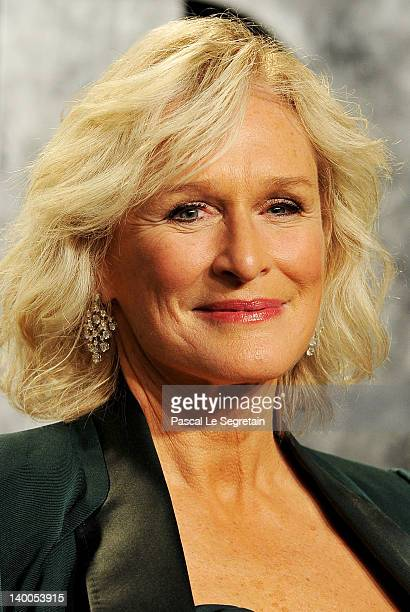 Actress Glenn Close arrives at the 2012 Vanity Fair Oscar Party hosted by Graydon Carter at Sunset Tower on February 26 2012 in West Hollywood...