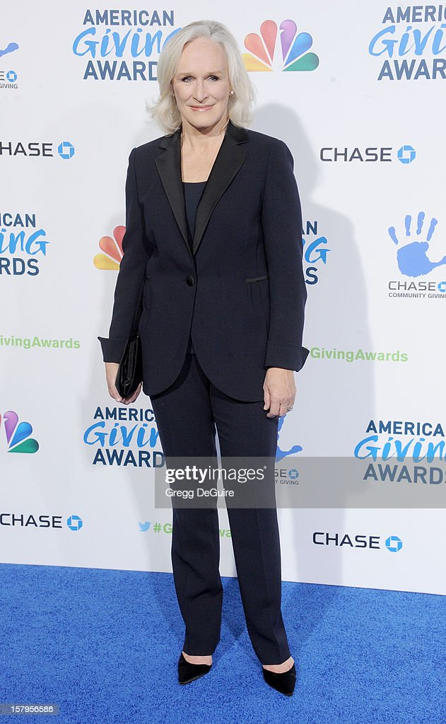 Actress Glenn Close arrives at the 2nd Annual American Giving Awards at the Pasadena Civic Auditorium on December 7, 2012 in Pasadena, California.