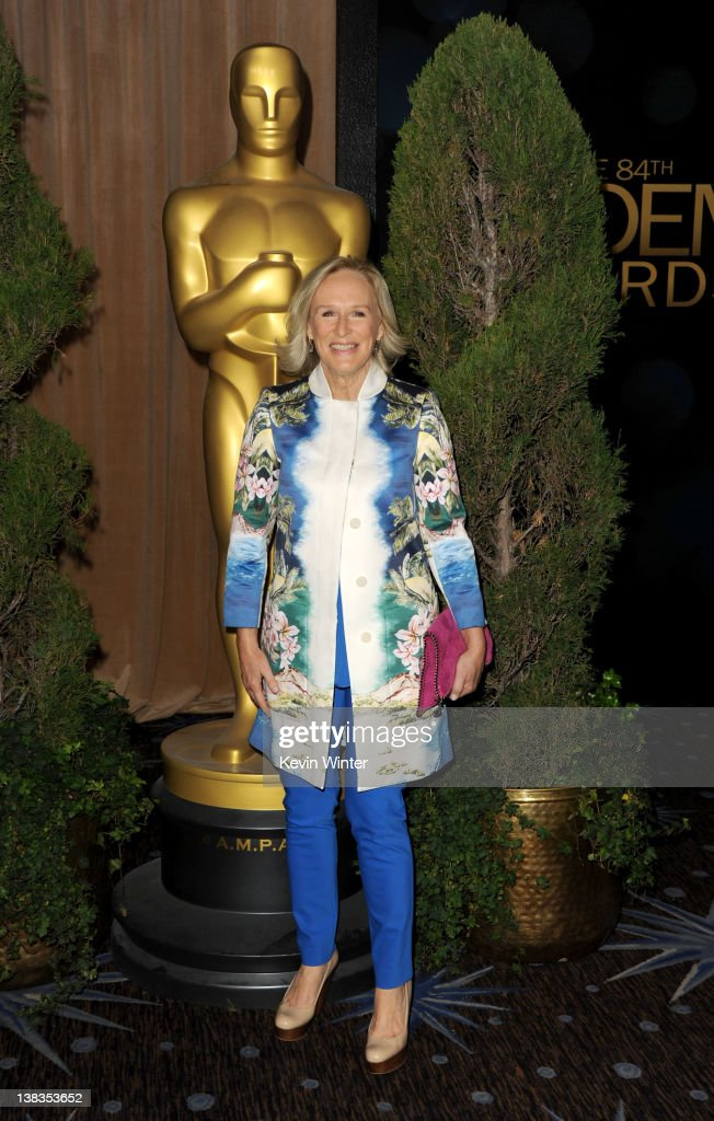 Actress Glenn Close arrives at the 84th Academy Awards Nominations Luncheon at The Beverly Hilton hotel on February 6 2012 in Beverly Hills California