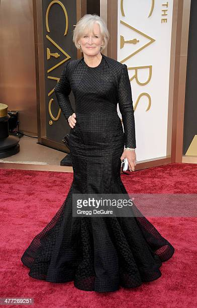 Actress Glenn Close arrives at the 86th Annual Academy Awards at Hollywood Highland Center on March 2 2014 in Hollywood California